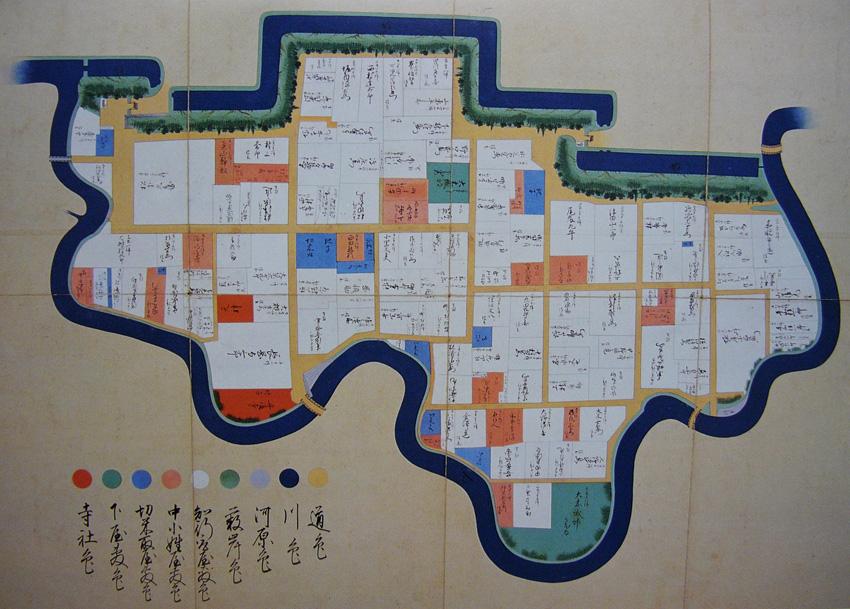 「内坪井之絵図」(新熊本市史別編第一巻絵図地図上所収)